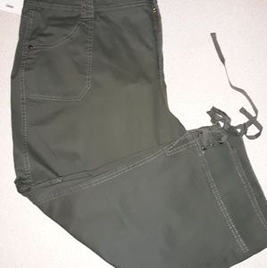 """Olive green classic capris """"just my size"""""""